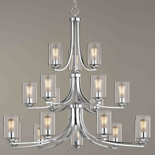 Design Classics Lighting Chrome Chandelier 5863-26 GL1040C