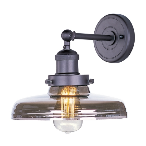 Maxim Lighting Sconce Wall Light with Clear Glass in Bronze Finish 25067MSKBZ/BUI