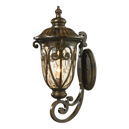 Elk Lighting Outdoor Wall Light with Beige / Cream Glass in Hazelnut Bronze Finish 45072/1