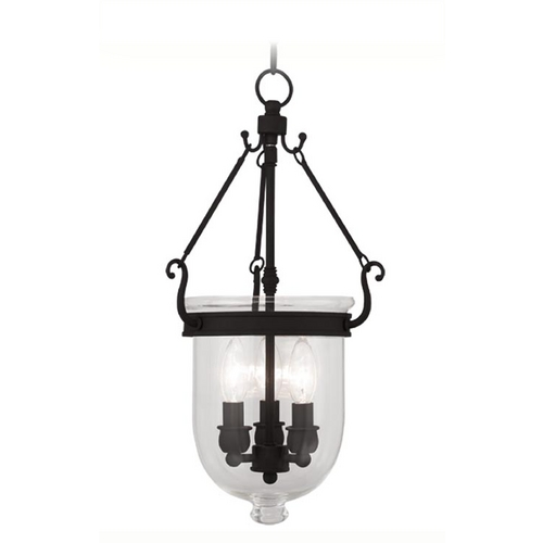Livex Lighting Livex Lighting Jefferson Black Pendant Light with Bowl / Dome Shade 5063-04