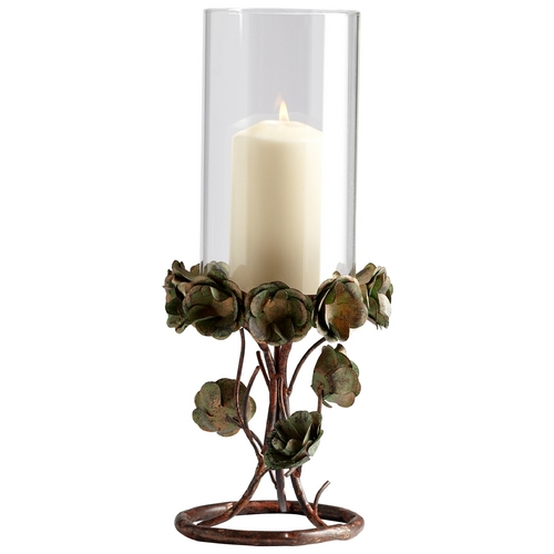 Cyan Design Cyan Design Leigh Green Rose Bronze Patina Candle Holder 05324