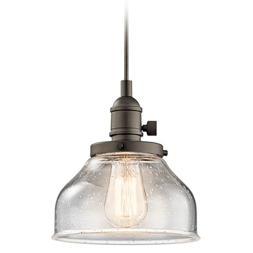 Kichler Lighting Kichler Lighting Avery Mini-Pendant Light with Bowl / Dome Shade 43850OZ