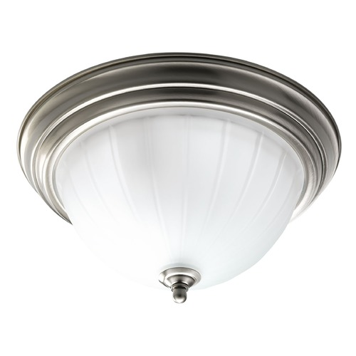 Progress Lighting Progress Lighting Melon Glass Brushed Nickel Flushmount Light P3703-09WB