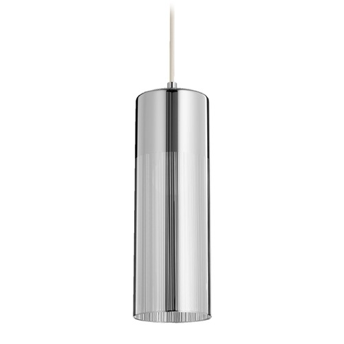 Quorum Lighting Quorum Lighting Chrome Mini-Pendant Light with Cylindrical Shade 838-1414