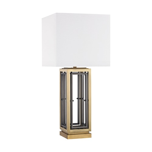 Dimond Lighting Dimond Hancock Park Antique Brass Table Lamp with Square Shade D3121