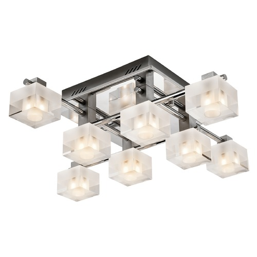 Elan Lighting Elan Lighting Considine Chrome Flushmount Light 83191