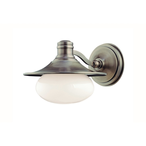 Hudson Valley Lighting Sconce with White Glass in Antique Nickel Finish 6701-AN