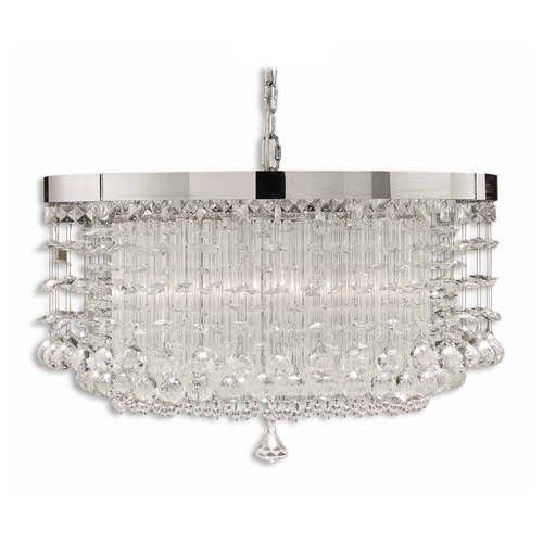 Uttermost Lighting Modern Pendant Light in Chrome Plated Finish 21138