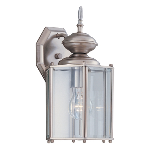 Designers Fountain Lighting Outdoor Wall Light with Clear Glass in Pewter Finish 1101-PW