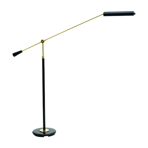 House of Troy Lighting LED Swing Arm Lamp in Black & Brass Finish PFLED-617