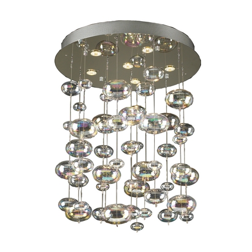 PLC Lighting Modern Pendant Light in Polished Chrome Finish 96964 PC