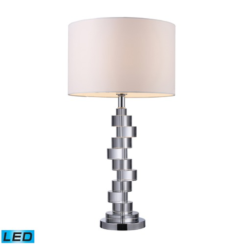 Dimond Lighting Dimond Lighting Clear Crystal, Chrome LED Table Lamp with Drum Shade D1480-LED