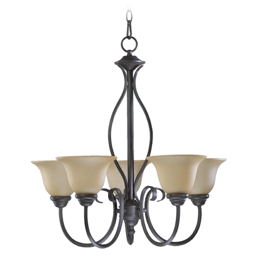 Quorum Lighting Quorum Lighting Spencer Toasted Sienna Chandelier 6010-9-44