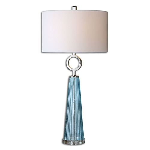 Uttermost Lighting Uttermost Navier Blue Glass Table Lamp 27698-1