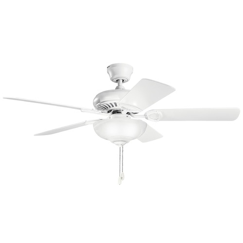 Kichler Lighting Kichler Lighting Sutter Place Select Matte White Ceiling Fan with Light 339211MWH