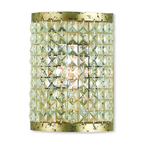 Livex Lighting Livex Lighting Grammercy Hand Applied Winter Gold Sconce 50571-28