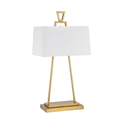 Dimond Lighting Dimond Hellenikon Antique Brass Table Lamp with Rectangle Shade D3122