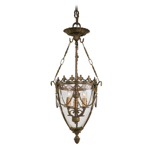Metropolitan Lighting Pendant Light with Clear Glass in Antique Bronze Patina Finish N2337-OXB