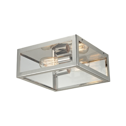 Elk Lighting Vintage Flushmount Light with Clear Glass in Polished Chrome Finish 31211/2