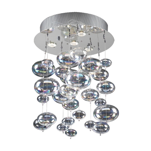 PLC Lighting Modern Pendant Light in Polished Chrome Finish 96962 PC