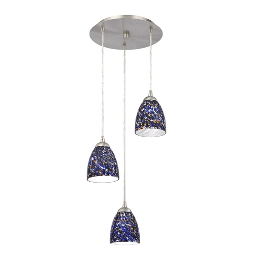 Design Classics Lighting Modern Multi-Light Pendant Light and 3-Lights 583-09 GL1009MB