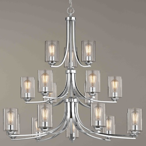 Design Classics Lighting Design Classics Dalton Fuse Chrome Chandelier 5863-26 GL1041C