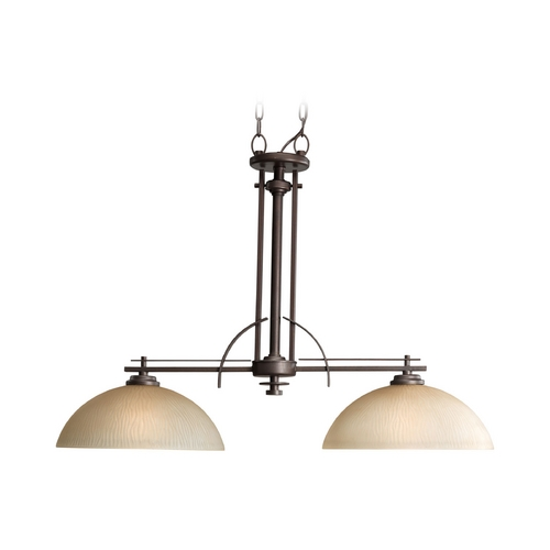 Progress Lighting Progress Island Light with Beige / Cream Glass in Heirloom Finish P4229-88