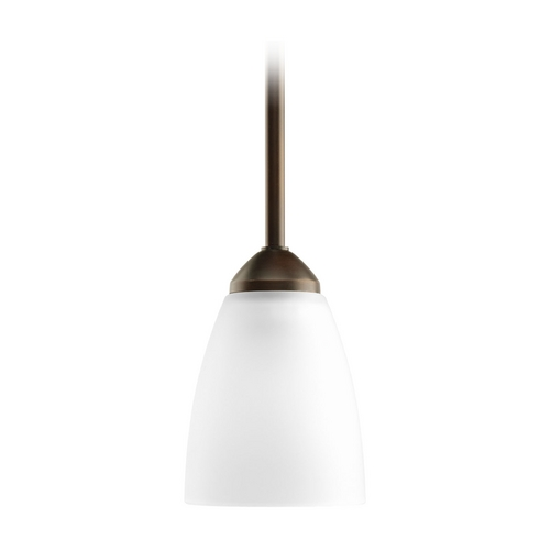 Progress Lighting Progress Mini-Pendant Light with White Glass P5113-20EBWB