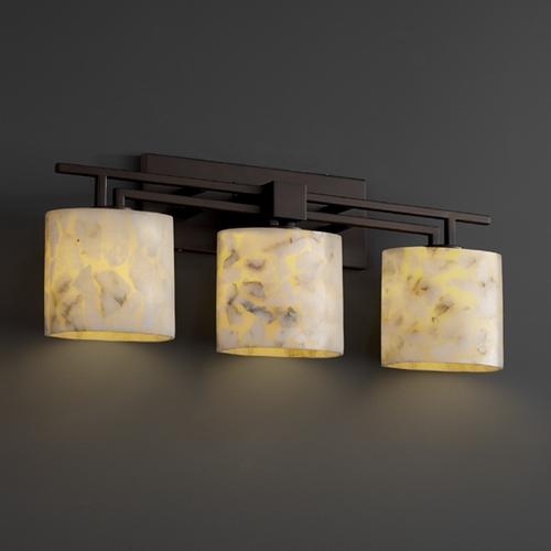 Justice Design Group Justice Design Group Alabaster Rocks! Collection Bathroom Light ALR-8703-30-DBRZ