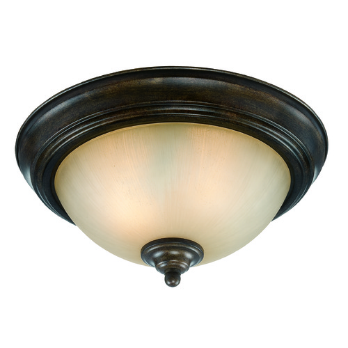 Jeremiah Lighting Jeremiah Century Bronze Flushmount Light 20013-CB