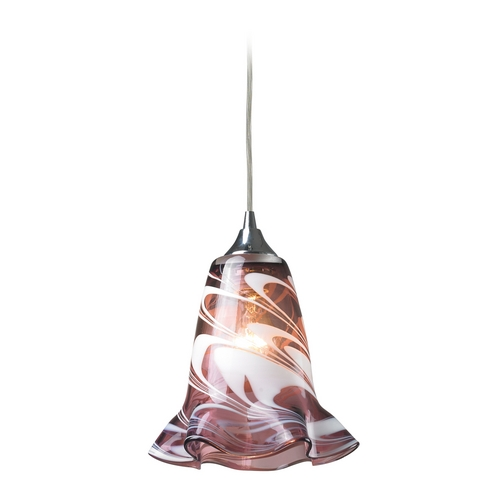 Elk Lighting Modern Mini-Pendant Light with Purple Glass 31342/1VPUR