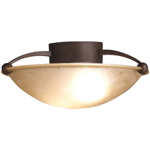 Kichler Lighting Kichler Bronze Semi-Flushmount Light with Clear Glass 8405TZ