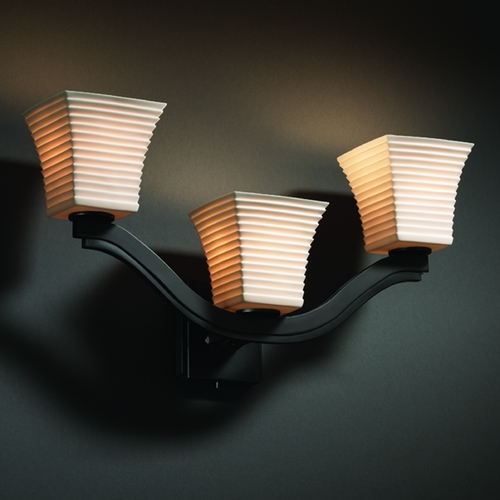 Justice Design Group Justice Design Group Limoges Collection Sconce POR-8976-40-SAWT-MBLK