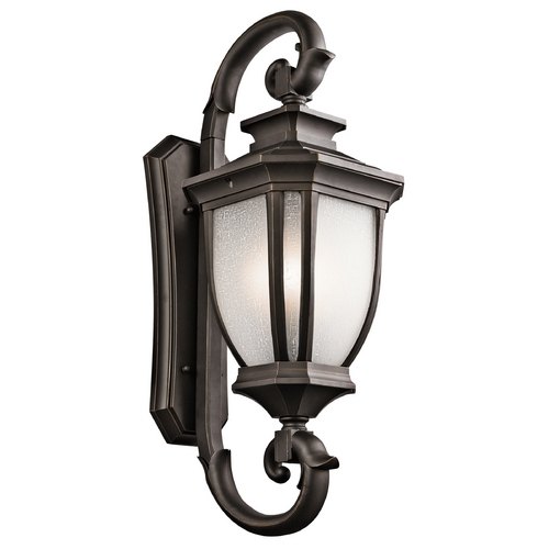 Kichler Lighting Kichler Lighting Salisbury Rubbed Bronze Outdoor Wall Light 9099RZ