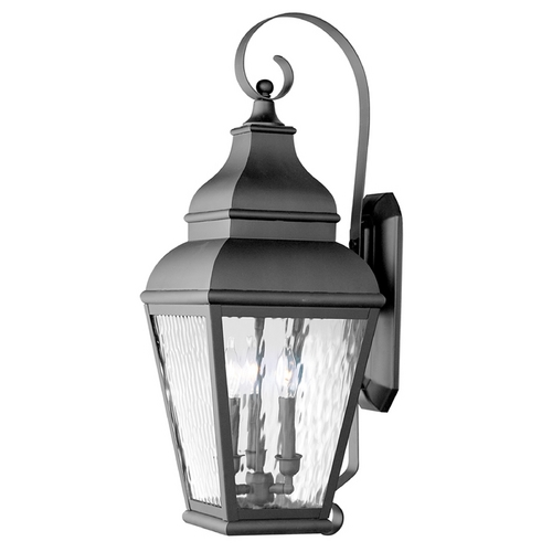 Livex Lighting Livex Lighting Exeter Black Outdoor Wall Light 2605-04