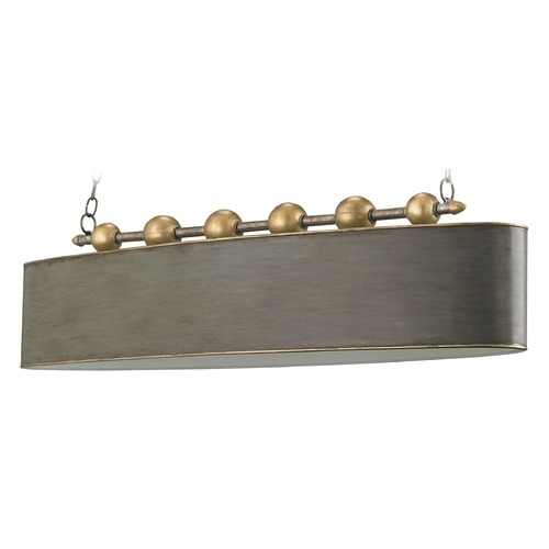 Currey and Company Lighting Currey and Company Lighting Stillman Antique Gold Leaf / Pyrite Bronze / Brussels White Pendant Ligh 9584