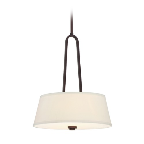 Designers Fountain Lighting Designers Fountain Studio Satin Bronze Pendant Light with Drum Shade 88531-SB