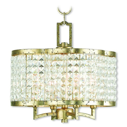 Livex Lighting Livex Lighting Grammercy Hand Applied Winter Gold Mini-Chandelier 50574-28