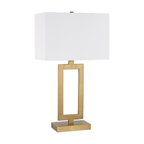 Elk Lighting Dimond Dromos Antique Brass Table Lamp with Rectangle Shade D3124