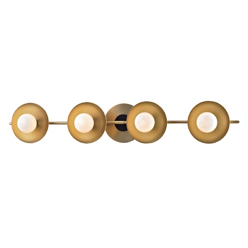 Hudson Valley Lighting Julien Aged Brass LED Bathroom Light 9804-AGB