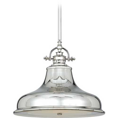 Quoizel Lighting Nautical Pendant Light in Imperial Silver Finish ER1814IS
