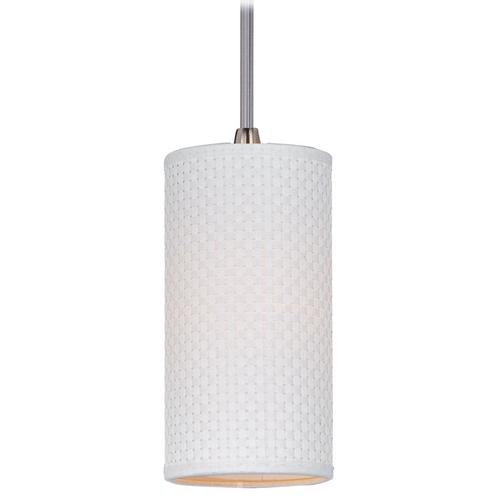 ET2 Lighting Modern Mini-Pendant Light with White Shade E95032-100SN