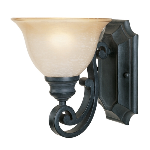 Designers Fountain Lighting Sconce Wall Light with Beige / Cream Glass in Natural Iron Finish 96101-NI