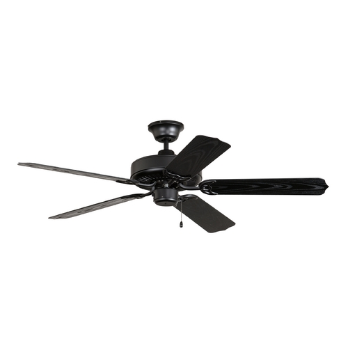 Craftmade Lighting Ceiling Fan Without Light in Matte Black Finish WOD52MBK5X