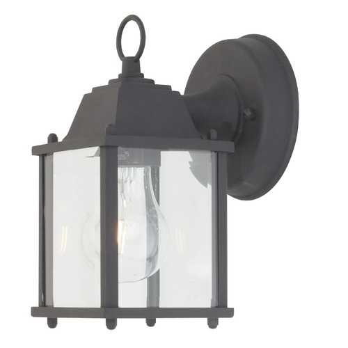 Design Classics Lighting Squared Outdoor Wall Light 3045 BK