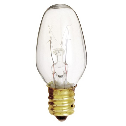 Satco Lighting Candelabra Base Light Bulb - 4-Watts S3680