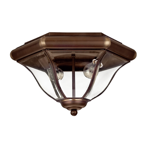 Hinkley Lighting Close To Ceiling Light with Clear Glass in Copper Bronze Finish 2443CB
