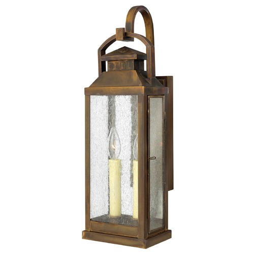 Hinkley Lighting Seeded Glass Outdoor Wall Light Bronze Hinkley Lighting 1184SN