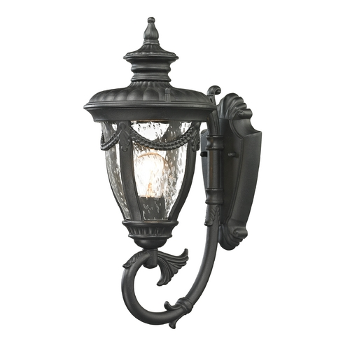 Elk Lighting Outdoor Wall Light with Clear Glass in Textured Matte Black Finish 45075/1
