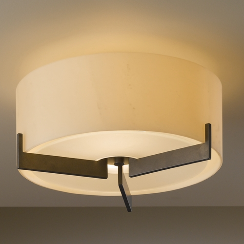 Hubbardton Forge Lighting Hubbardton Forge Lighting Axis Dark Smoke Semi-Flushmount Light 126401-SKT-07-HH0218